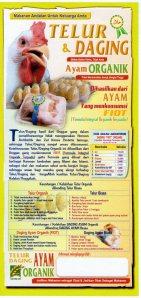 Telor dan Daging Ayam Organik